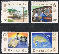Bermuda SG553-556 1987 Centenary of Bermuda Telephone Company set 4v complete unmounted mint
